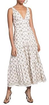 A.L.C. Jolie Floral Print Tiered Dress