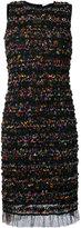 Givenchy ruched mesh shift dress - women - Polyamide/Spandex/Elastane/Viscose - 36