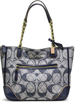Coach Poppy Quilted Signature C Denim Small Chain Tote
