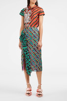 Marco De Vincenzo Ruffle Stripe Skirt