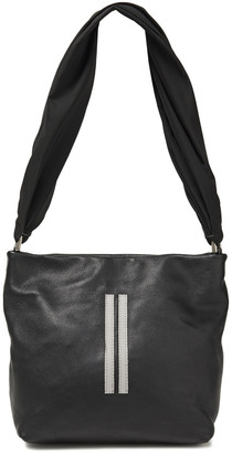 Rick Owens Studded Pebbled-leather And Twill Shoulder Bag