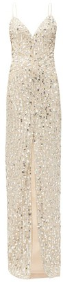 Rasario Sequinned Sweetheart-neckline Tulle Dress - Silver