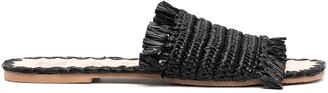 Manebi Flat Straw Sandals