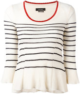 Isabel Marant striped top - women - Cotton/Polyamide - 36