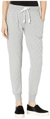 Splendid Lounge Joggers (Medium Heather Grey Dot) Women's Pajama