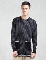VALLIS BY FACTOTUM Crewneck Check Cardigan