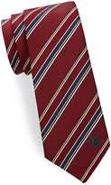 Versace Men's Regimental Silk Tie