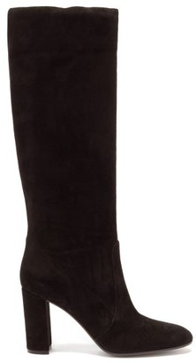 Gianvito Rossi Slouch 85 Knee-high Suede Boots - Black