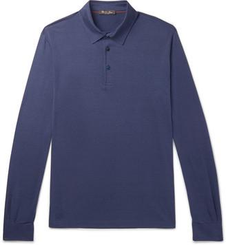 Loro Piana Silk And Cotton-Blend Jersey Polo Shirt