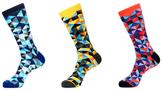 Jared Lang Geometric Cotton Socks (3 PK)