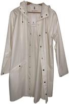 Rains White Polyester Coats