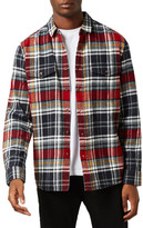 Topman Noise Print Check Flannel Shirt