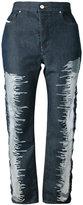 Diesel patch detail jeans
