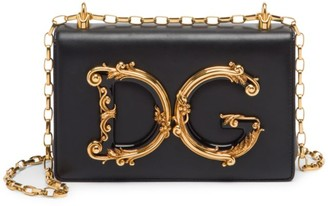Dolce & Gabbana Girls Leather Shoulder Bag