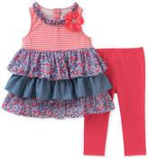 Kids Headquarters Tiered Ruffle Tunic & Leggings, Baby Girls