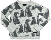 Finger In The Nose Animal Printed Cotton Sweatshirt