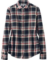 Uniqlo Women Flannel Wide Collar Long Sleeve Shirt