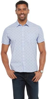 Apt. 9 Men's Short Sleeve Untucked Regular-Fit Pattern Woven Shirt