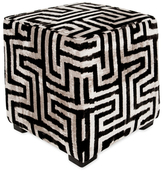 Found Object Maze Square Pouf