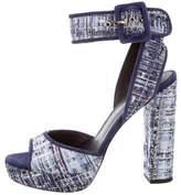 Pierre Balmain Woven Peep-Toe Sandals w/ Tags