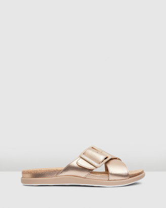 Clarks Women's Pink Flat Sandals - Step Juneshell - Size One Size, 3 at The Iconic