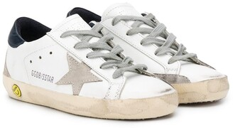 Golden Goose Kids star patch lace-up sneakers