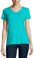 ST. JOHN'S BAY St. John's Bay Short Sleeve V Neck T-Shirt-Womens