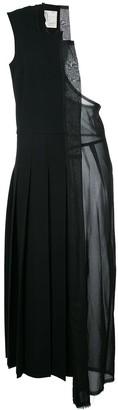 Comme des Garcons Pre-Owned laser cut one-shoulder dress