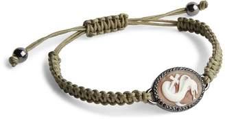 Amedeo Cobra Cameo Macrame Bracelet