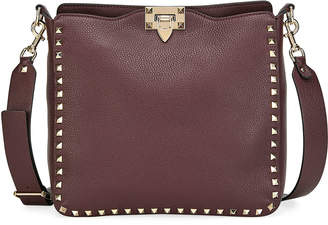Valentino Garavani Rockstud Small Vitello Leather Hobo Bag