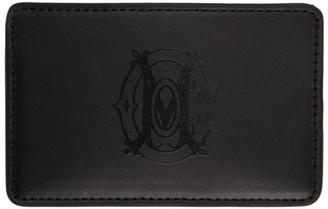 Marcelo Burlon County of Milan Black Monogram Card Holder