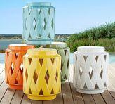 Pottery Barn Lattice Ceramic Accent Table