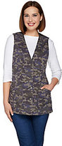 Denim & Co. As Is Camo Printed Button Front Vest with Pockets