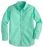 J.Crew Boys' Secret Wash shirt in garment-dyed