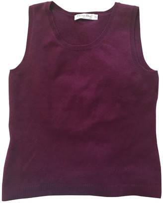 Christian Dior Purple Cashmere Tops
