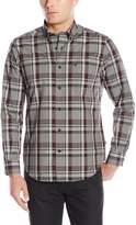 Nautica Men's Long Sleeve Wrinkle Resistant Poplin Large Plaid Shirt