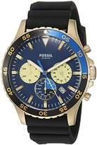 Fossil Men's Quartz Stainless Steel and Silicone Casual Watch, Color:Black (Model: CH3074)