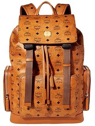 MCM Brandenburg Visetos Backpack Medium (Cognac) Backpack Bags