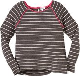 Splendid Classic Stripe Knit Top (Toddler/Kid) - Charcoal-4/5
