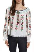 Needle & Thread Cross Stitch Floral Top