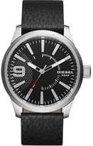Diesel 'Rasp' Leather Strap Watch, 46mm