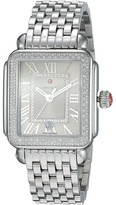 Michele Deco Madison Stainless Steel Cashmere Diamond Watch Watches