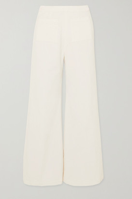Faithfull The Brand Tove Cropped Cotton-corduroy Wide-leg Pants - White