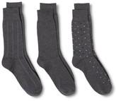 Merona Men's 3-Pack Patterned Socks