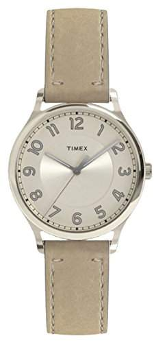 Timex Women's Heritage White Dial with a Genuine Leather Strap Watch TW2R23200