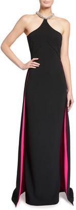 Stella McCartney Elina Embellished Halter-Neck Gown