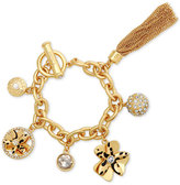 GUESS Gold-Tone Exotic Charm Bracelet