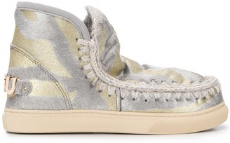 Mou Eskimo patterned ankle boots