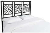 David Francis Furniture Whirlwind Open-Frame Headboard Color: Black, Size: Twin