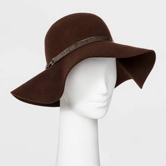A New Day Women's Felt Wide Brim Floppy Hat Brown